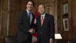 Trudeau+Bankimoon